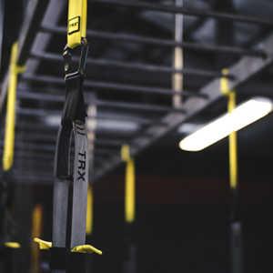 trx training system in a gym