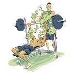 gym, how to do everything better, spotting, bench press