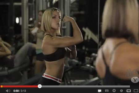 gym, men and women, video, workout, role reversal