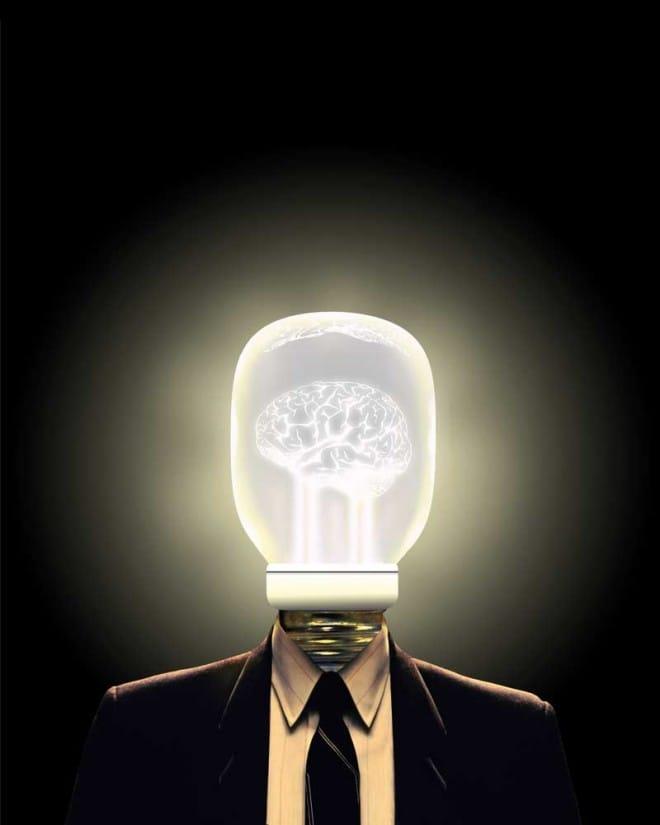 lightbulb, mind, smart, clever, bright idea