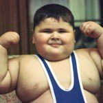 an obese or overweight kid