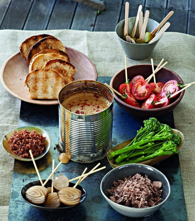 Recipe: Canned Fondue À La Braai, Reuben Riffel, Reuben's, Franschhoek, top chef, fondue, food, recipe, braai