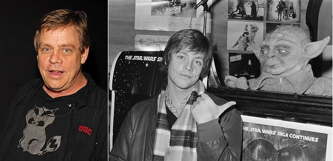Hamill in 2010 and Hamill in the 1970s (Wikipedia)