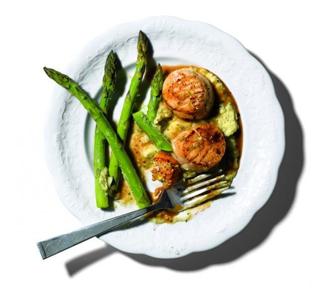 recipescallopsasparagus