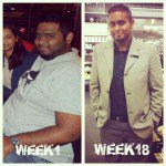 Durban man's weight loss transformation before and after 18 weeks