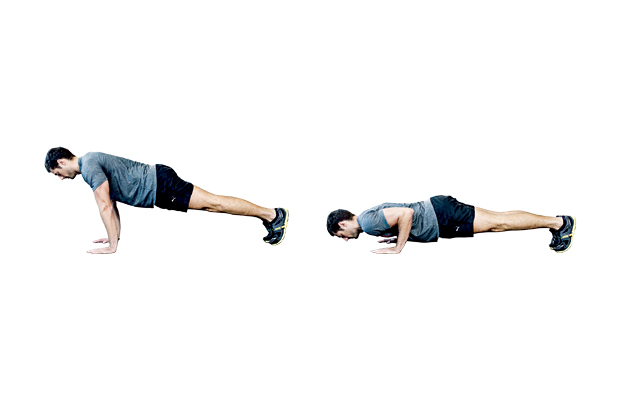 Perfect your form: push up
