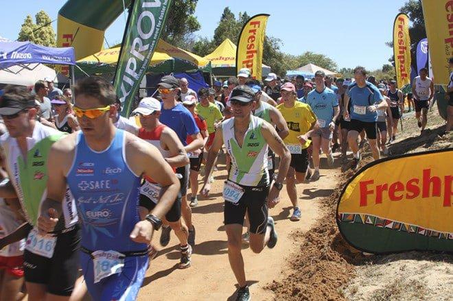 Triathletes kick start the race