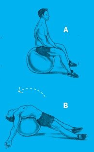 swiss ball pec stretch