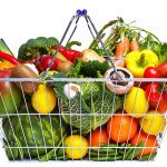 a basket of fruit and vegetable