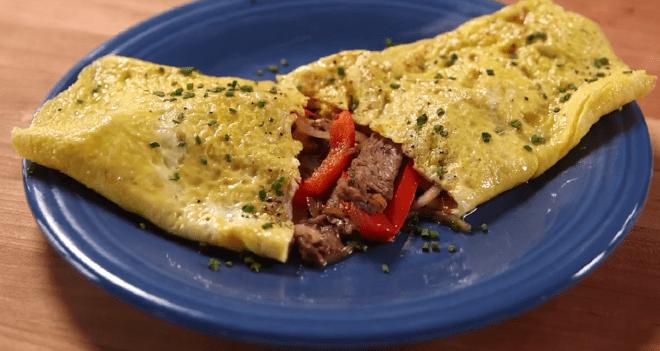 Cheese steak omelet