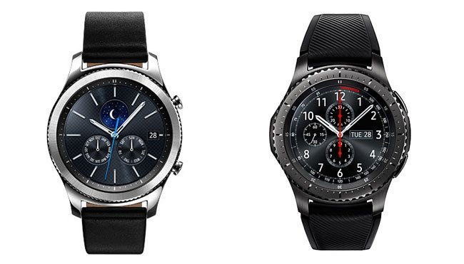 Gear S3 Classic (left), Gear S3 Fontier (right)