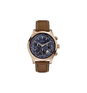 guess-mens-brown-and-rose-gold-round-leather-watch
