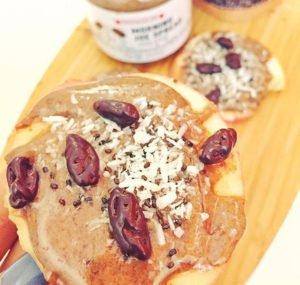 homemade-snacks-eat-before-workout-apple-yogurt-almond-butter-sandwich