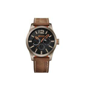 hugo-boss-paris-mens-brown-leather-round-watch