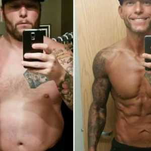 jimmy who lost a lot of weight fast for a physique show shows his before and after transformation