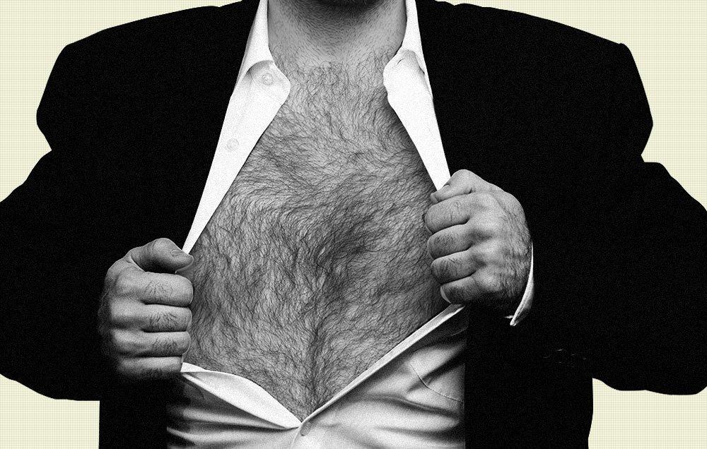 Skinny hairy men