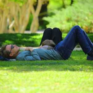 man napping in the day on lawn