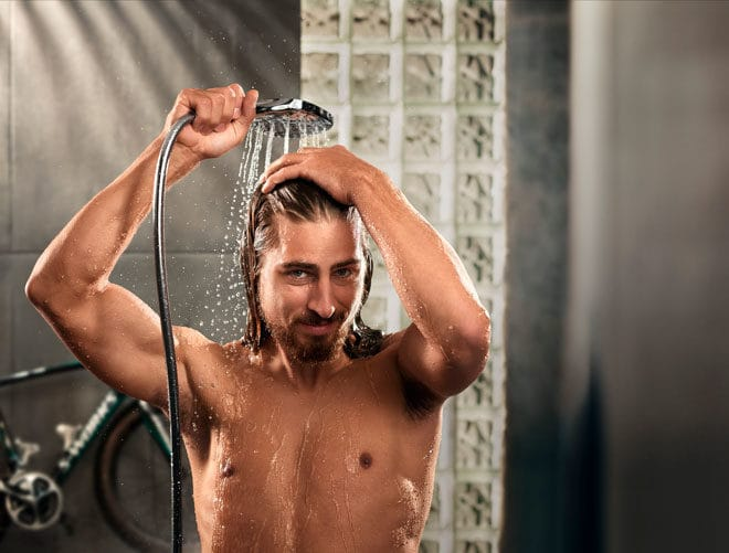 Relax With A Hot Shower After A Tough Workout