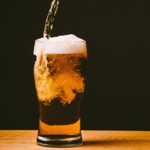 Pouring a beer