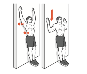 workout arms pull up wall slide