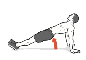 plank workout arms pull up abs