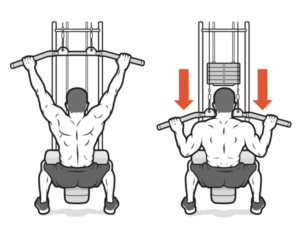 lat pull down workout gym arms