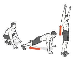 burpee workout arms