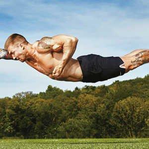 man doing superman push-up