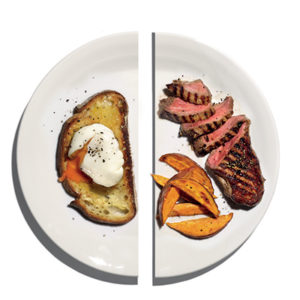 Breakfast vs Dinner, food, meal, health, nutrition, plate