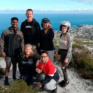 Mens Health Team with Hermanus in the background