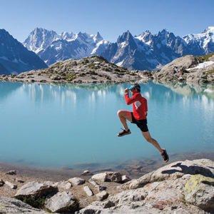 man running in chamonix mountain-sports addicts
