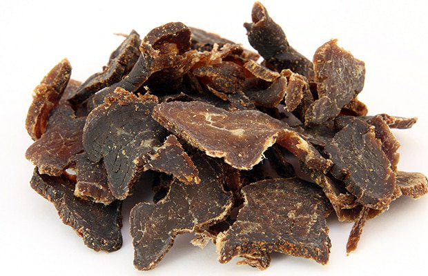 biltong is a great hiking snack
