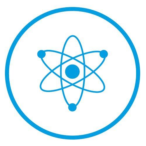 a blue atom