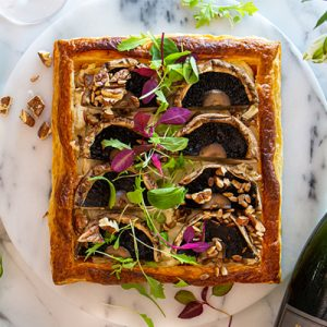 pictureof mushroom tart with wine vegetarian christmas recipes