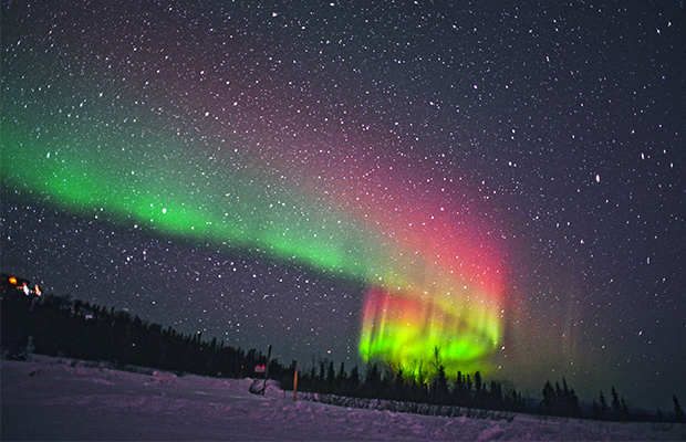 the northern lights as seen in Finland